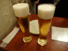 2人ともビール
