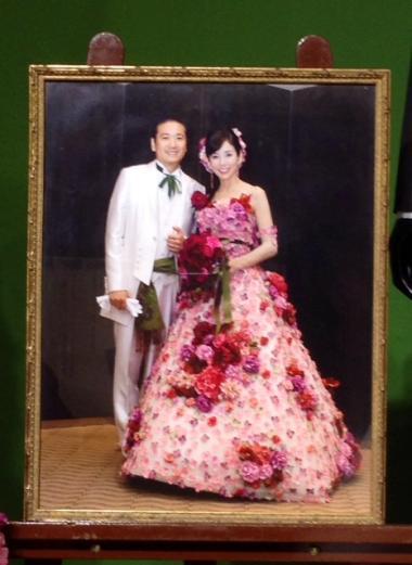 s20151001川島直美さん赤ドレス結婚式写真