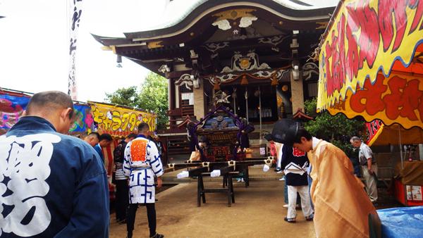 諏訪神社の御神幸大祭準備