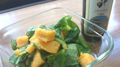 芋ほり おイモと小松菜サラダ