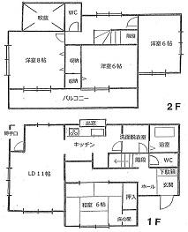 豊田市青木町(間取図)