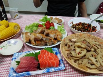 夕飯一日目
