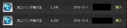 武公パンダ魂の玉、昔は安かったよなぁ、490.110