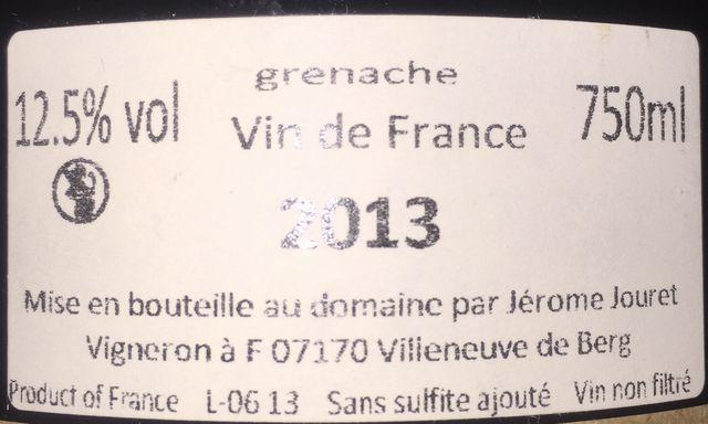 Jerome Jouret En Avant doute grenache 2013 part2