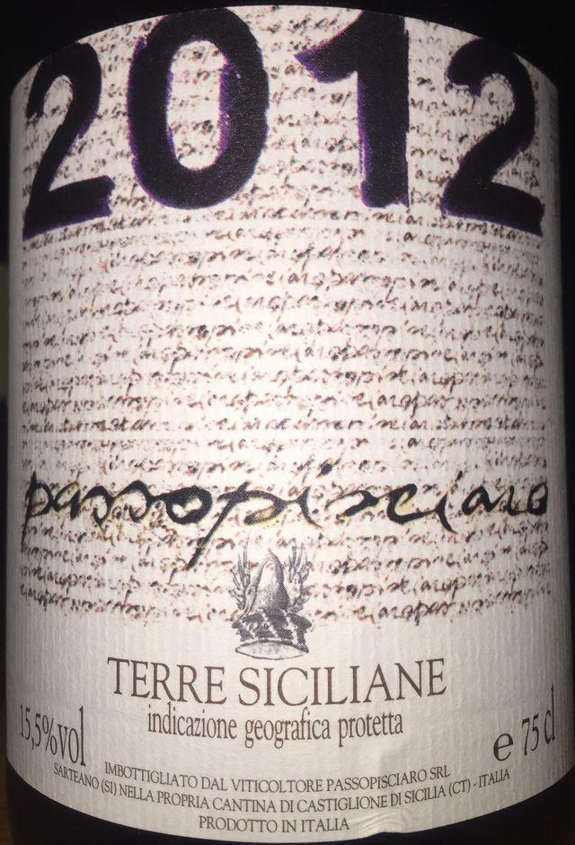 Passopisciaro Terre Siciliane 2012