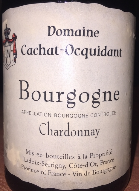 Bourgogne Chardonnay Domaine Cachat Ocquidant 2010