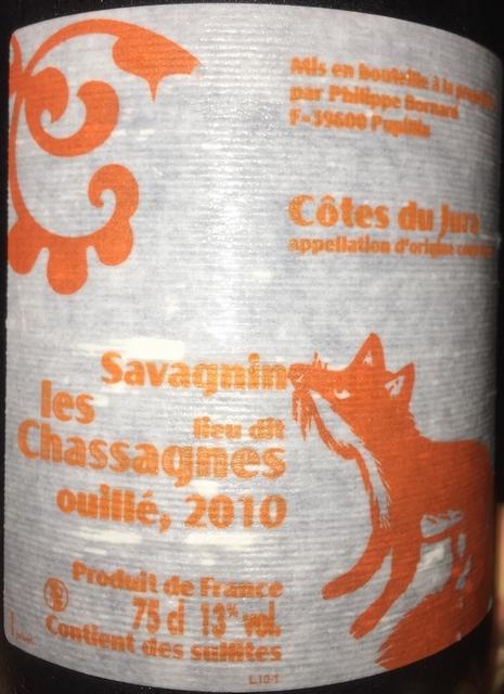 les Chassagnes Savagnin Phillippe Bornard 2010