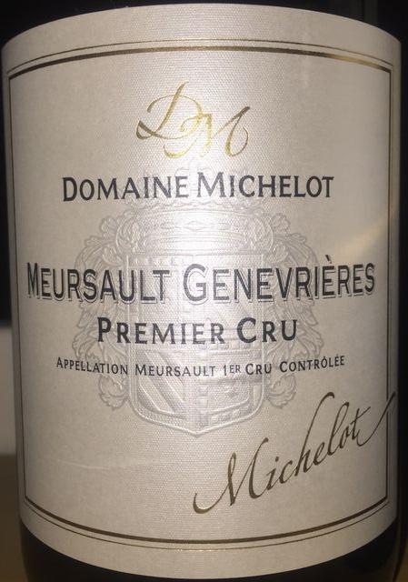 Meursault Genevrieres Domaine Michelot 2011