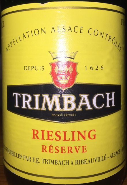 Trimbach Riesling Reserve 2011