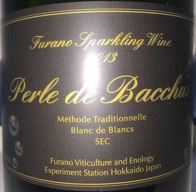 Furano Sparkling Wine Perle de Bacchus Methode Traditionnelle Blanc de Blancs SEC 2013