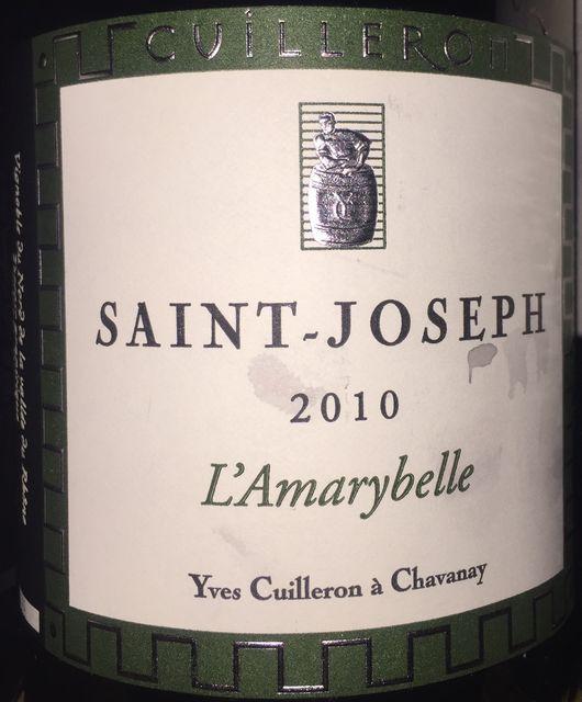 Saint Joseph LAmarybelle Yves Cuilleron a Chavanay 2010