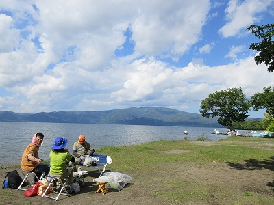 砂湯キャンプ場から藻琴山