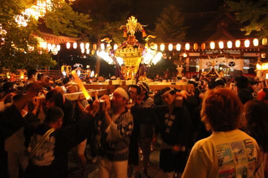 牛倉神社例大祭 出発