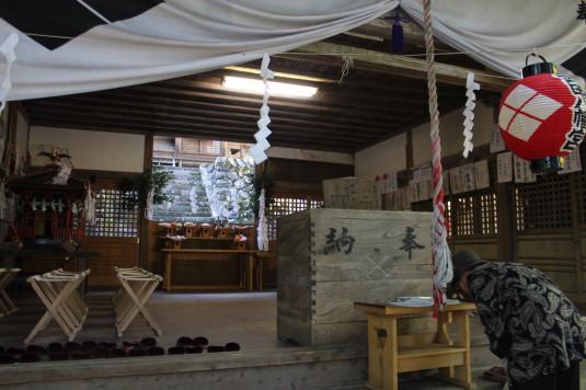 武田八幡宮例大祭 本殿