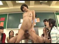 先生が生徒達の前で中出しセックスを実戦!これが未来の性教育現場だ!