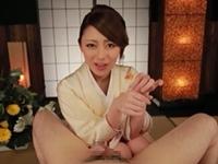 桜井あゆ 着物姿の美痴女が上品な淫語を言いながら手コキでイカせてくれる!
