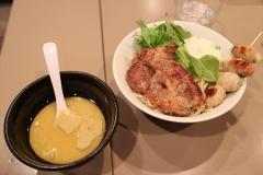 150929フランス産豚肩ロースのステーキ濃厚サツマイモスープのつけ麺_R