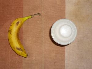 ダイエットプロテイン(いちごみるく味),バナナ