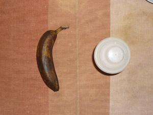 プロテインダイエット(イチゴ味),バナナ