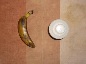 ダイエットプロテイン(いちごミルク味),バナナ