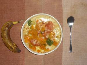 1日分の緑黄色野菜が摂れるグラタン,バナナ