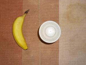 プロテインダイエット(いちごみるく味),バナナ