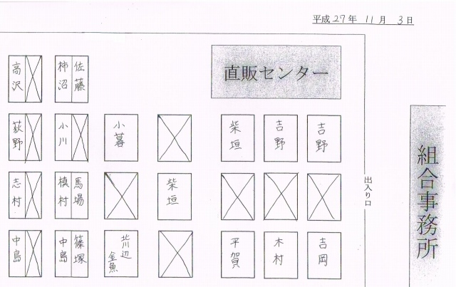金魚ブース配置図