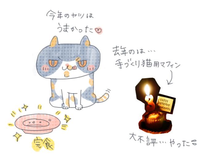 今年の誕生日ごはんは完食!