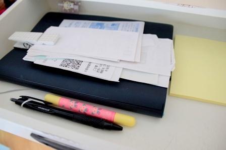 ダイニングテーブル 書類の整理方法 (4)