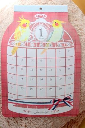 セリア 鳥かごカレンダー 2016 (4)