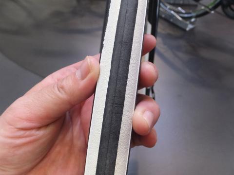 ロードレーサーのタイヤ