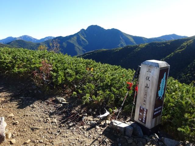 9月19日 三伏山から塩見岳