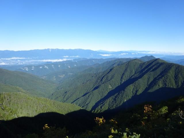 9月19日 三伏山から中央アルプス