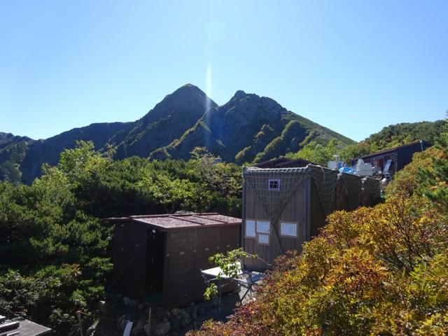 9月19日 立て替え中の塩見小屋