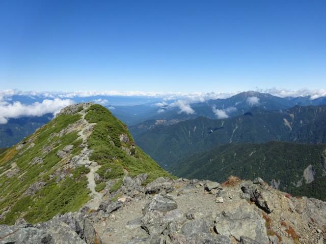 9月19日 東峰から西峰と仙丈ケ岳