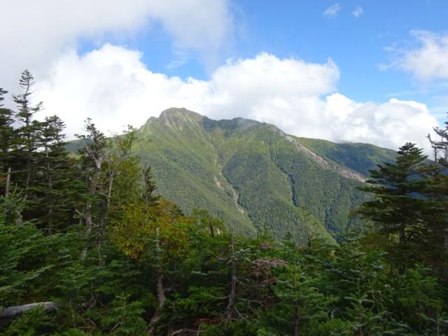 9月19日 本谷山ちょっと下から塩見岳