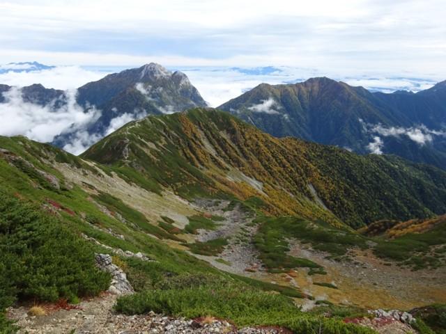 9月26日 小仙丈沢カールと甲斐駒,アサヨ峰