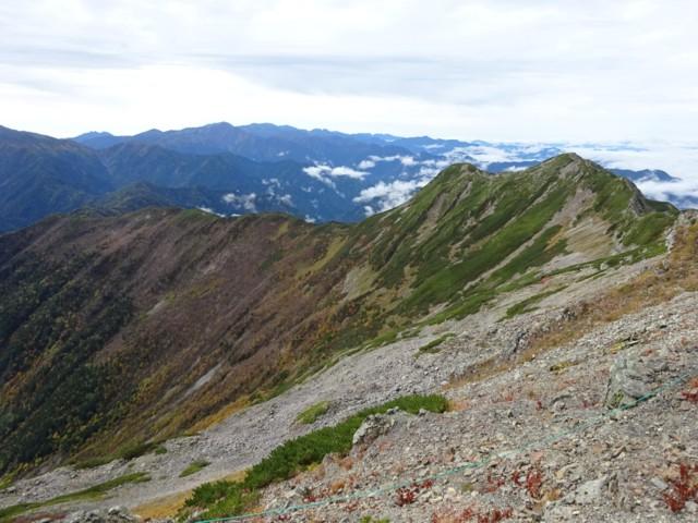 9月26日 大仙丈ケ岳と仙塩尾根,塩見岳