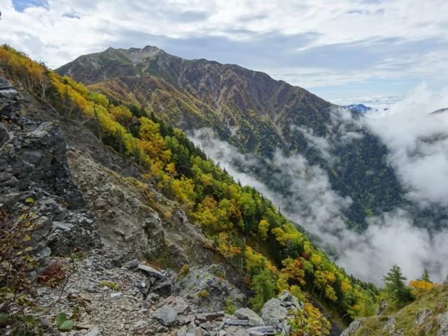 9月26日 馬ノ背から仙丈ケ岳北側