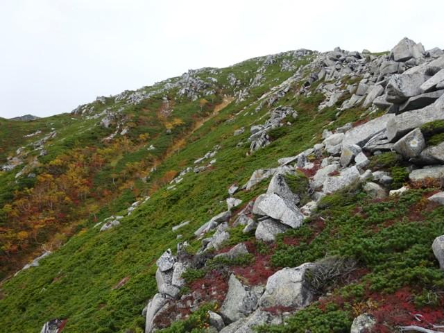 9月27日 前常念岳までは岩場