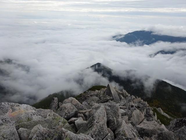 9月27日 登山口は雲の中