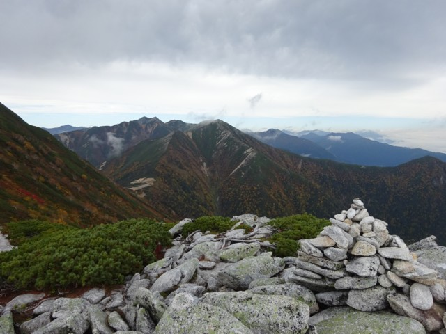 9月27日 前常念岳から