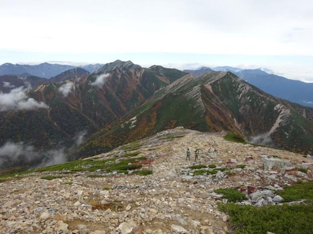 9月27日 常念小屋と常念岳の分岐