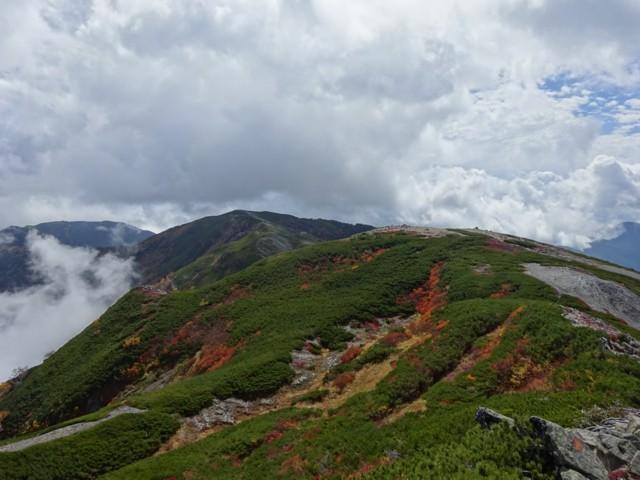 9月27日 蝶ヶ岳のほう