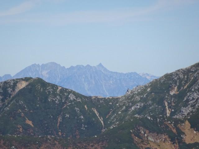 10月3日 木曽駒なめの槍ヶ岳と穂高岳