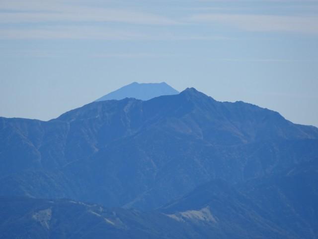 10月3日 塩見岳と富士山
