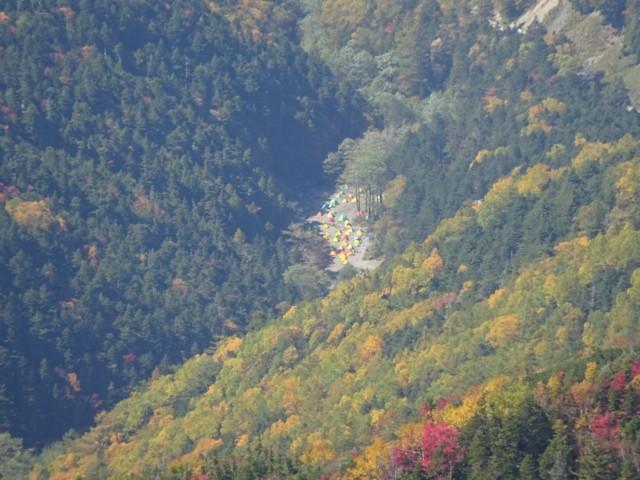 10月4日 長衛小屋のテン場