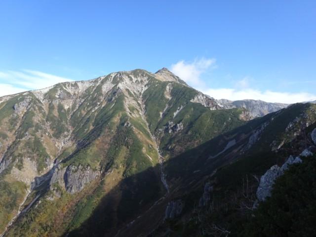 10月10日 雷鳥岩から笠ヶ岳