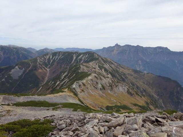 10月10日 槍ヶ岳眺めながら稜線歩き