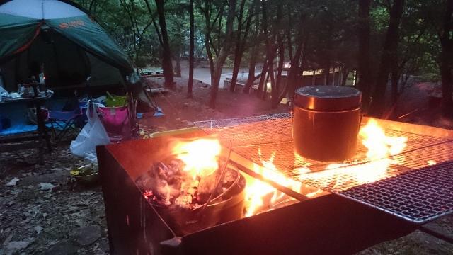 キャンプ炊飯